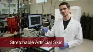 Nanotube Springs in Super-Stretchy Skin-Like Sensor
