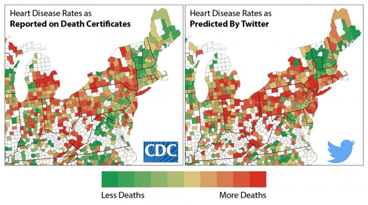 County-by-County Comparison of Twitter and CDC Data